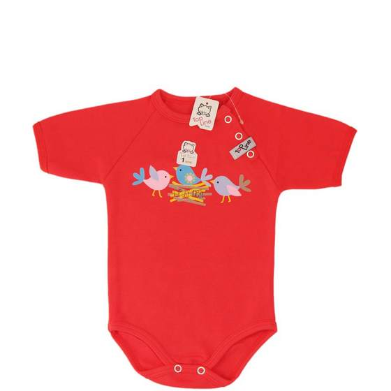 Baby Short Sleeves Button Knobbed